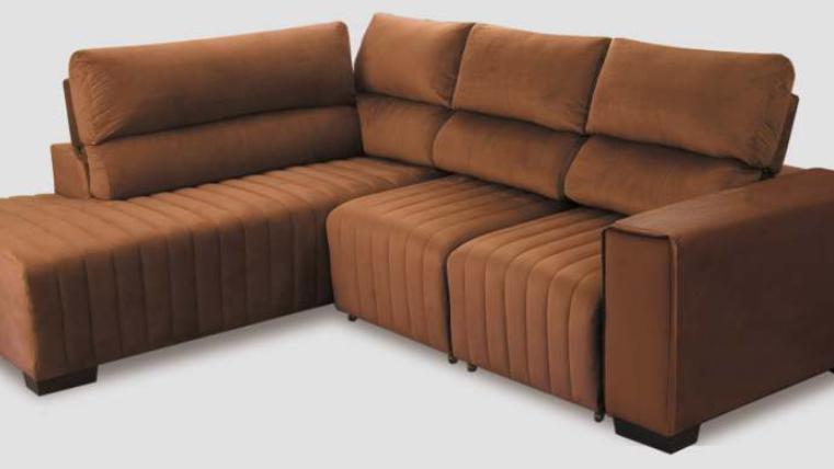 Sofá de Canto Madri 2,10x2,54m Retrátil e Reclinável
