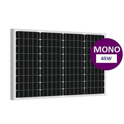 45 Watt Monokristal Güneş Paneli Lexron