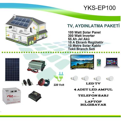 GÜNEŞ ENERJİSİ EV PAKETİ YKS-EP100
