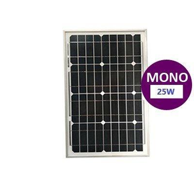 25 Watt Monokristal Güneş Paneli Lexron