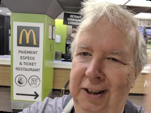 McDonalds in Paris with Rob