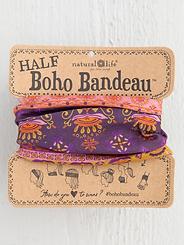 Natural Life Half Boho Bandeau Purple Border
