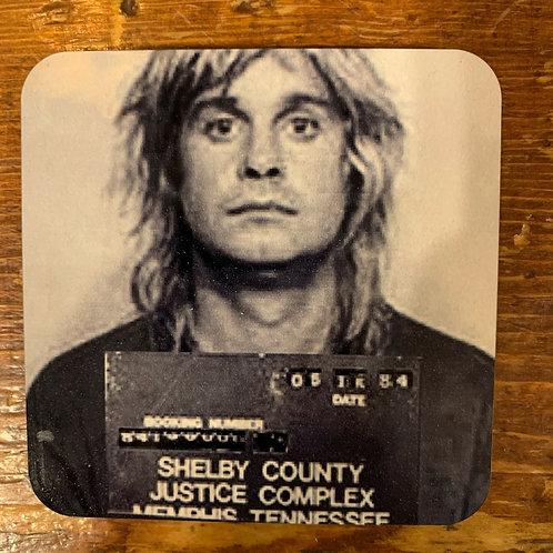 Ozzy Osbourne Mugshot Coaster
