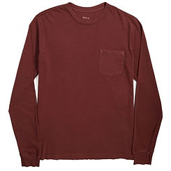 RVCA PTC Pigment LS T-Shirt Ox Blood Red