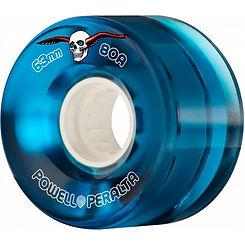 Powell Peralta H8 Clear Cruiser 63mm 80a Blue Wheel Set