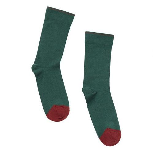 Bonne Maison Solid Spruce Crew Sock