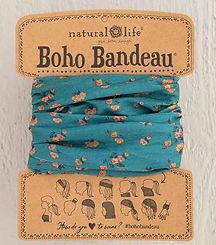 Natural Life Boho Bandeau Turquoise Floral