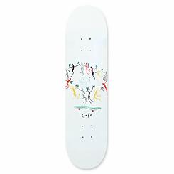 Skateboard Cafe Peace Deck White