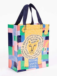 Blue Q Resting Snack Face Tote