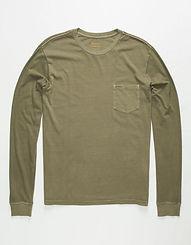 RVCA PTC Pigment LS T-Shirt Olive