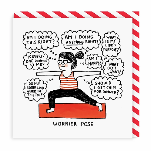 Greeting Card: Thoughts During Yoga