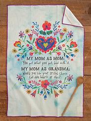 Natural Life Mom as Mom Cotton Dish Towel