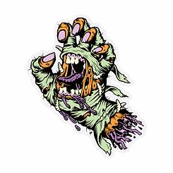 Santa Cruz Mummy Hand Sticker