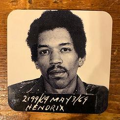 Jimi Hendrix Mugshot Coaster
