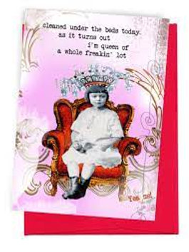 Erin Smith Greeting Card Cleaned Under The Beds
