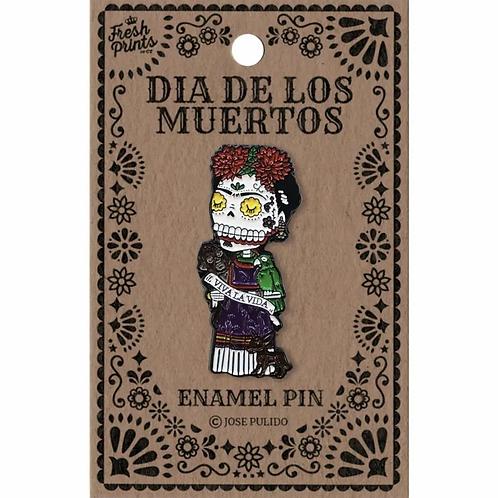 Dia De Los Muertos Frida Enamel Pin