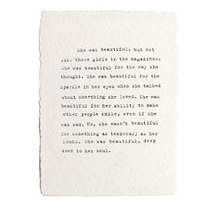Handmade Paper Prints~She Was Beautiful