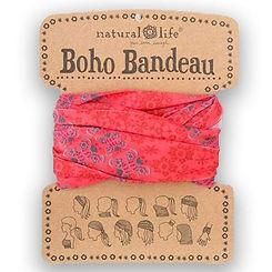 Natural Life Boho Bandeau Coral Teal Garland