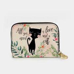 Cat Love Zippered Wallet
