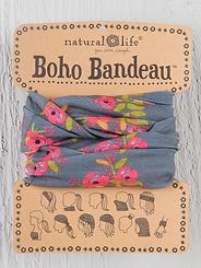 Natural Life Boho Bandeau Charcoal Blooms