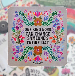 One Kind Word~Vinyl Sticker