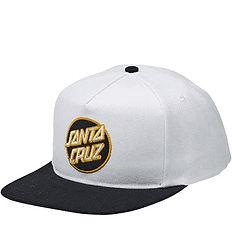 Santa Cruz Other Dot Snapback Mid Profile White Black