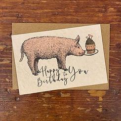 Notecard~Happy Birthday to You Piggy