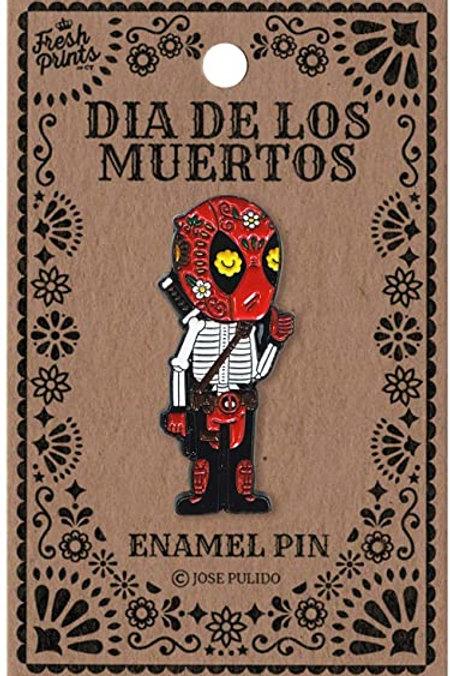 Dia De Los Muertos Deadpool Enamel Pin