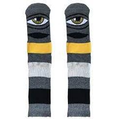 Toy Machine Sect Eye Sock Big Stripe Dark Grey