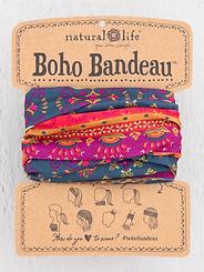 Natural Life Boho Bandeau Navy Red Border
