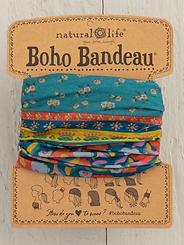 Natural Life Boho Bandeau Turquoise Floral Border