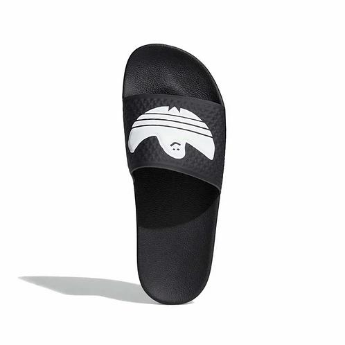 Adidas Shmoofoil Slides Black/White