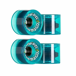 Cloud Ride Longboard Wheel Street Cruiser Clear Turquoise 69mm 78a