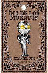 Dia De Los Muertos Jack Skellington Enamel Pin