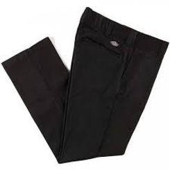Dickies Slim Fit Flex Straight Leg Work Pants Black