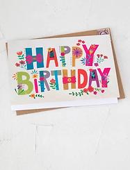 Natural Life~Happy Birthday Art Print Greeting Card