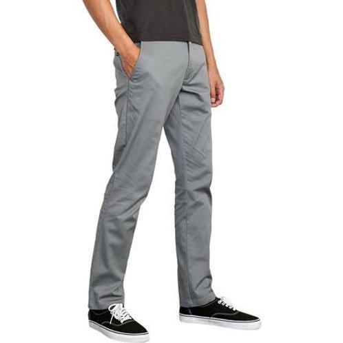 RVCA Weekend Stretch Slim/Straight Chino Pant Smoke