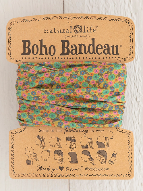 Natural Life Boho Bandeau Mustard Floral