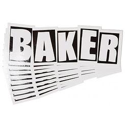 Baker Brand Logo Medium Sticker Black/White