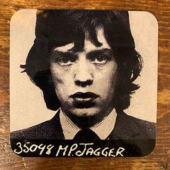Mick Jagger Mugshot Coaster