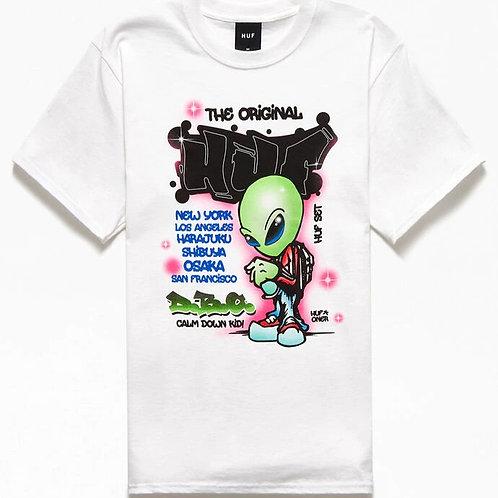 Huf UFO Short Sleeve Tee White