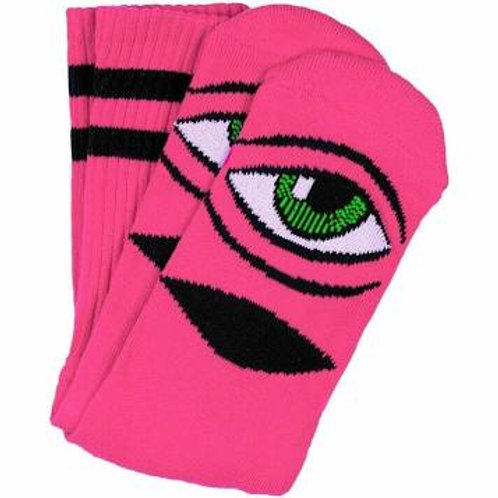 Toy Machine Sect Eye Sock Neon Pink