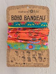 Natural Life Boho Bandeau Orange Green Borders