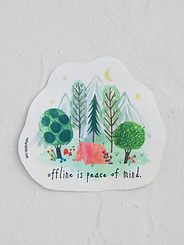 Peace Of Mind ~ Vinyl Sticker