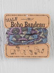 Natural Life Half Boho Bandeau Black/Cream Mandala
