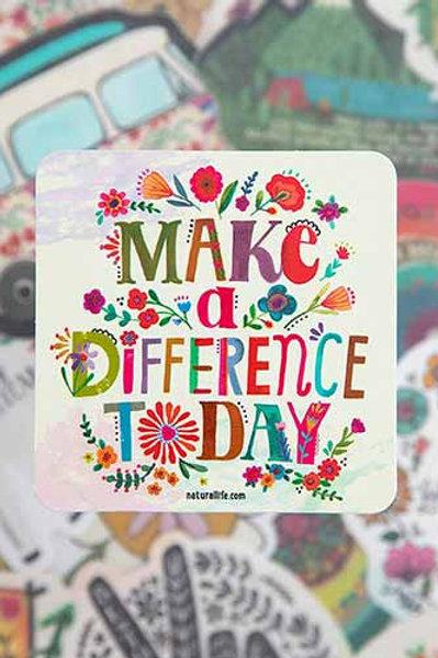 Make A Difference~Vinyl Sticker