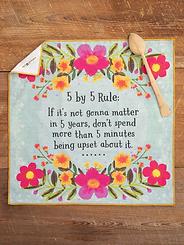 Natural Life 5 x 5 Rule Cotton Dish Towel