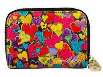 Burch Dancing Hearts Zippered Wallet