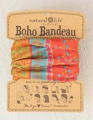 Natural Life Boho Bandeau Red Floral Stripe