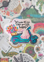 Do More of What Makes Your Soul Happy ~Vinyl Sticker